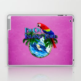 Pink Island Time Surfing Laptop & iPad Skin