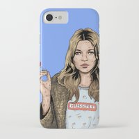 kate moss iPhone & iPod Cases featuring Kate Moss  by guissëpi