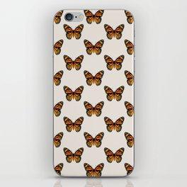 Monarch Butterfly Pattern iPhone Skin