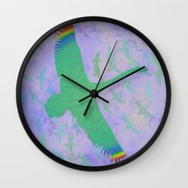 Feathered Dreams Wall Clock
