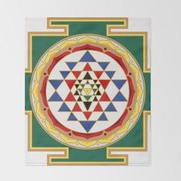 Sri Yantra colored Throw Blanket