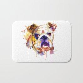 English Bulldog Head Bath Mat