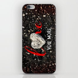 """""""Love You More"""" Hawaii Beach with Coral Heart Photo iPhone Skin"""