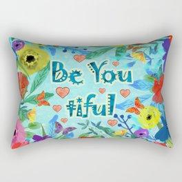 Be -You - tiful - Beautiful Rectangular Pillow