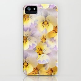 Pastel Vintage Pansies 2 iPhone Case