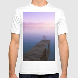 Infinite Sunset over Water and Mountains T-shirt