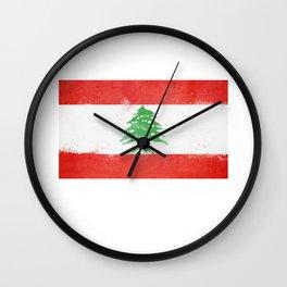 Lebanon Flag design   Lebanese design Wall Clock