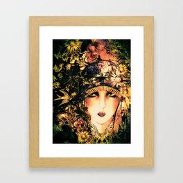 ART DECO FLAPPER COLLAGE POSTER PRINT, ROSES, BIRDS BUTTERFLIES ,LADY Framed Art Print