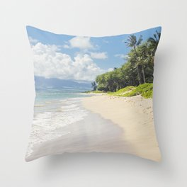 Kawililipoa Beach Kihei Maui Hawaii Throw Pillow