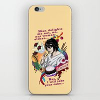 fandom iPhone & iPod Skins featuring Fandom Pride: Asexuality Special, L Death Note by Seraph Limonade