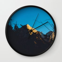 First light at Zion II Wall Clock