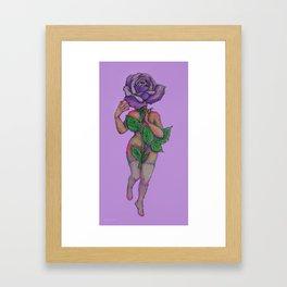 death rose Framed Art Print