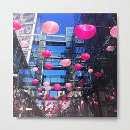 Pink Balloons Metal Print