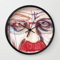 breaking Wall Clocks featuring Breaking Walter // Breaking Bad by METAMARK Design Studio
