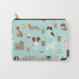 Coffee Dogs cute miniature dog breeds chihuahua bichon terrier Shih tzu pomeranian latte coffees Carry-All Pouch