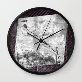 Lost - stripe graphic Wall Clock