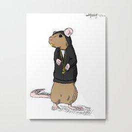 Hood-Rat Metal Print