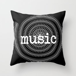 Sol keys and music - inverted Throw Pillow