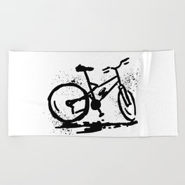 Rest bike Beach Towel