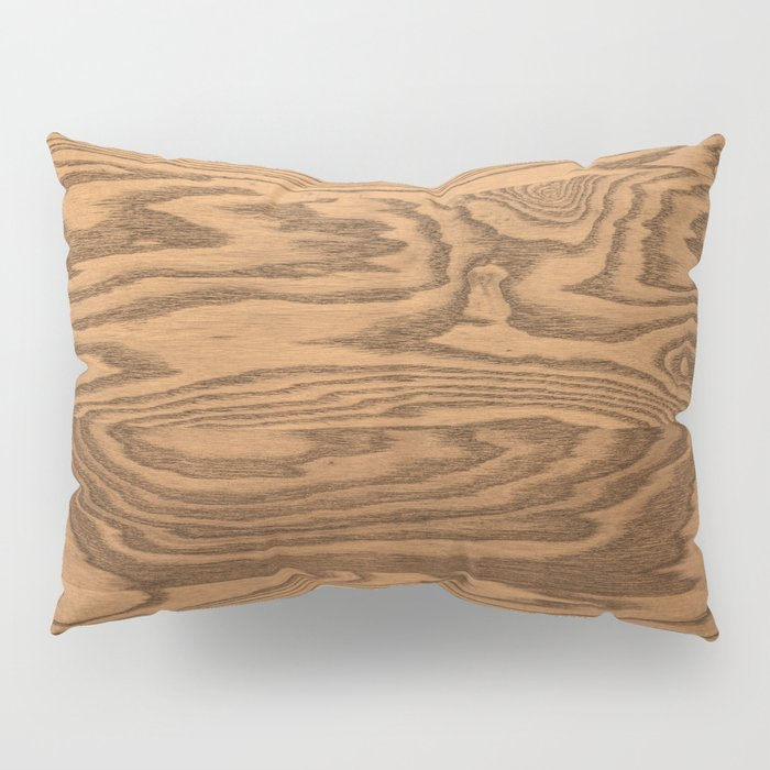 Wood 5, heavily grained wood Horizontal grain Pillow Sham