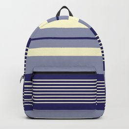 Blue and light yellow stripes pattern Backpack