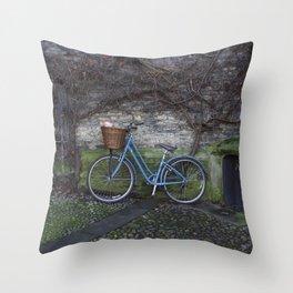 Bike Ride Through England Throw Pillow