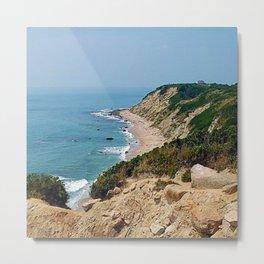 Mohegan Bluffs and Beach - Block Island (New Shoreham) Rhode Island Metal Print