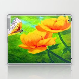 Butterfly with flowers Laptop & iPad Skin
