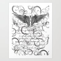 scripture Art Prints featuring Kingdom Stars Scripture by KingdomStarsClothing
