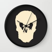 blues brothers Wall Clocks featuring Brothers by Derek Eads