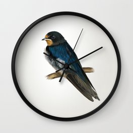 Hirundo rustica Wall Clock