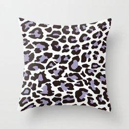 Snow Leopard Pattern_C Throw Pillow