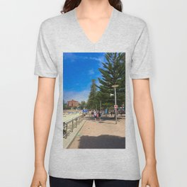 Manly Beach Esplanade  Unisex V-Neck