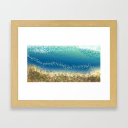 Abstract Seascape 04 wc Framed Art Print
