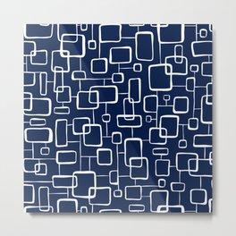 On The Quad - Navy Blue Metal Print