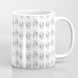 Continuous Line Hands Coffee Mug