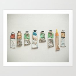 Oil Paints Art Print