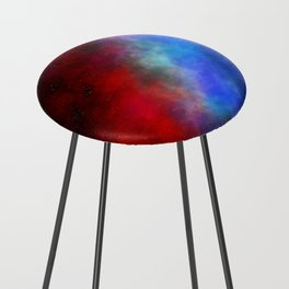 The red white & blue Counter Stool