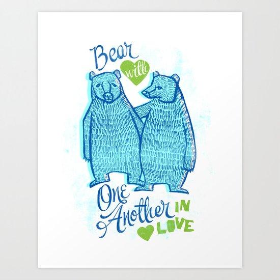 BEAR IN LOVE Art Print