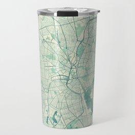 Providence Map Blue Vintage Travel Mug