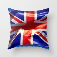 england Throw Pillows featuring England Flag by Fine2art