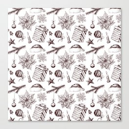 Christmas seamless pattern Canvas Print