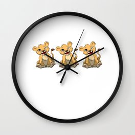I'm This Many Lions Old 3 Yr Three Puppy Lion Wall Clock