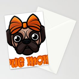 Pug Mom Mother Granny Mommy Pets Animals Dogs Lovers Gifts Stationery Cards