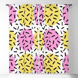Memphis Polka Dot Sprinkles Pattern 131 Blackout Curtain