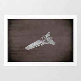 Battlestar Galactica BSG minimalist Viper Art Print