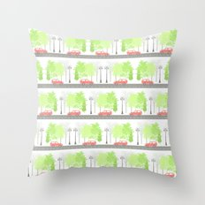 Cars and trees Throw Pillow