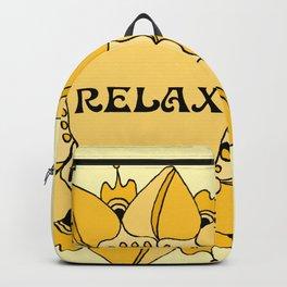 Relax Nouveau Golden Sun Mandala Backpack