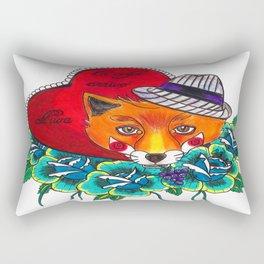 Fox and fruit Rectangular Pillow