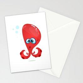 Cartoon Funny Octopuss Illustration Stationery Cards
